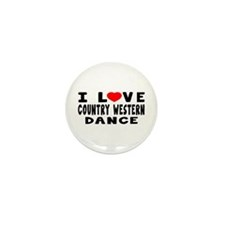 I Love Country Western Mini Button (10 pack)