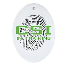 CSI In Training Oval Ornament
