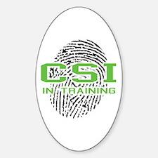 CSI In Training Oval Decal