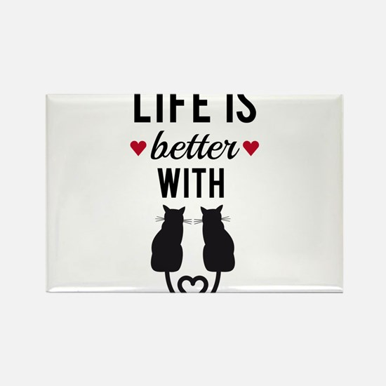 Life is better with cats, text design, word art Ma