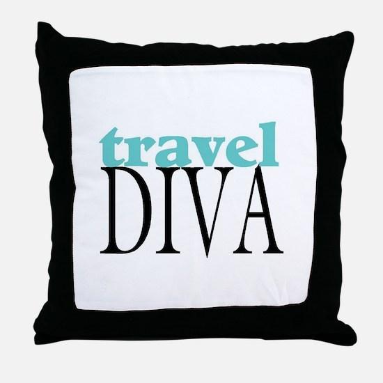 Travel Diva Throw Pillow