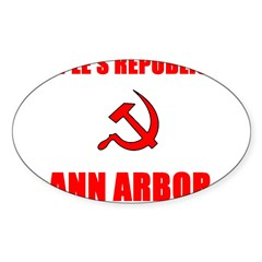 People's Republic of Ann Arbo Oval Decal
