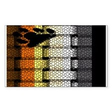 BEAR PRIDE FLAG WOVEN LOOK3 Rectangle Decal