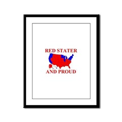 Red Stater and Proud Framed Panel Print