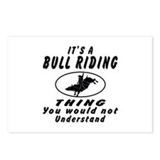 Bull Riding Thing Designs Postcards (Package of 8)