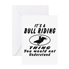Bull Riding Thing Designs Greeting Card