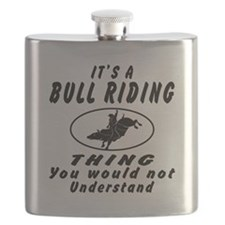 Bull Riding Thing Designs Flask