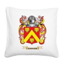 Parker Coat of Arms (Family Crest) Square Canvas P