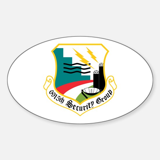 6915th Security Group Oval Decal