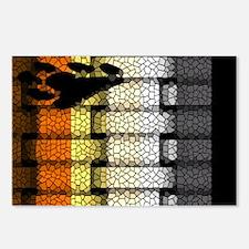 BEAR PRIDE FLAG WOVEN LOOK3 Postcards (Package of