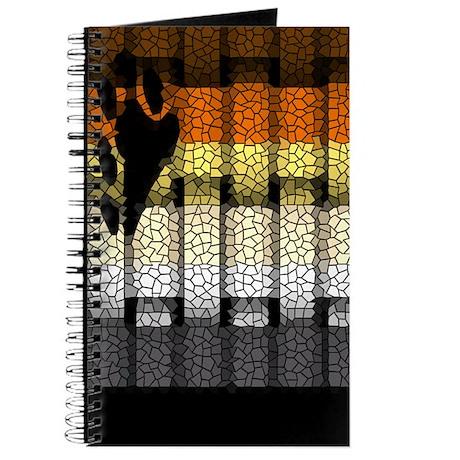 BEAR PRIDE FLAG WOVEN LOOK3 Journal