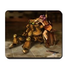 The Girl and the RObot (BG) Mousepad
