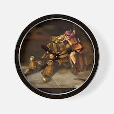 The Girl and the RObot (BG) Wall Clock