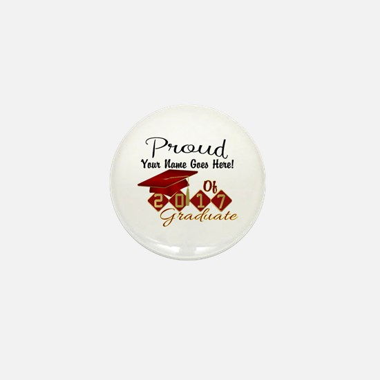 Proud 2017 Graduate Red Mini Button