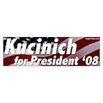 Kucinich for President '08 bumper sticker