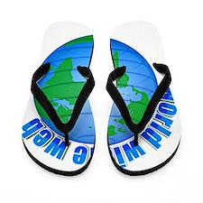 World Wide Web Globe Flip Flops