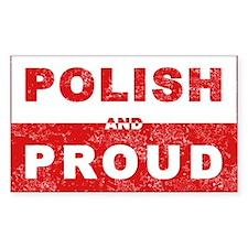 Polish & Proud Rectangle Decal