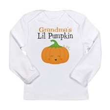Grandmas Little Pumpkin Long Sleeve T-Shirt