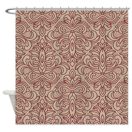 art deco diamond rust fleur shower curtain by