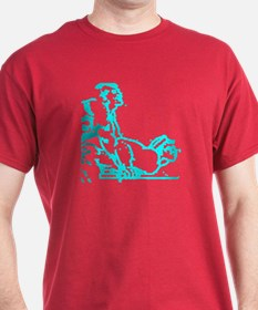 2 MEN PLAYING ON TABLE/BLUE T-Shirt