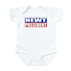 Newt for President Infant Bodysuit