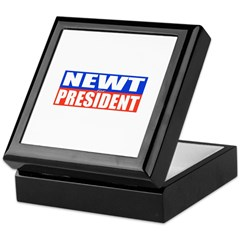 Newt for President Keepsake Box