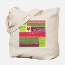 Christ in Christmas2013 - square Tote Bag