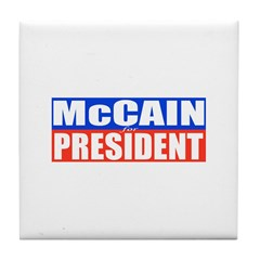 McCain for President Tile Coaster