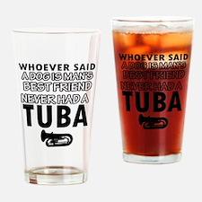 tuba vector designs Drinking Glass