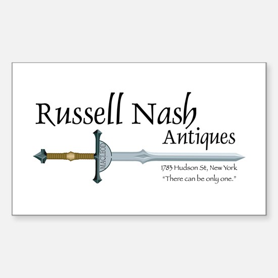 Nash Antiques Rectangle Decal
