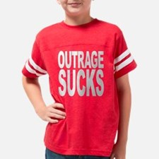 outragesuckswht Youth Football Shirt