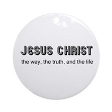 Jesus is the Way Ornament (Round)