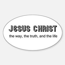 Jesus is the Way Oval Stickers