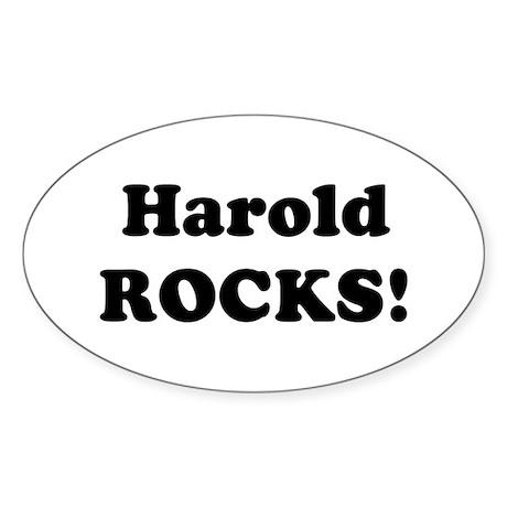 Harold Rocks! Oval Sticker