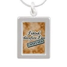 I Think Therefore I Am Confused Necklaces