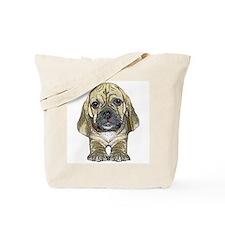 Just Puggle Art Tote Bag