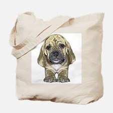 Just Puggle Art Tote Bag