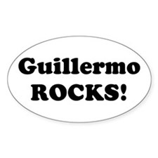 Guillermo Rocks! Oval Decal