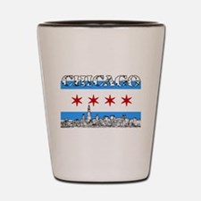 Chicago outline-5-FLAG Shot Glass