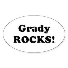 Grady Rocks! Oval Decal