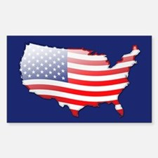 """United States Bubble Map"" Rectangle Decal"