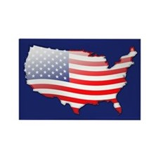 """United States Bubble Map"" Rectangle Magnet"