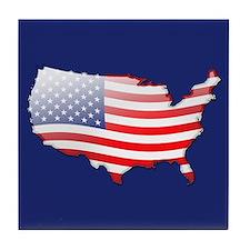 """United States Bubble Map"" Tile Coaster"