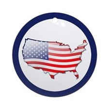 """United States Bubble Map"" Ornament (Round)"