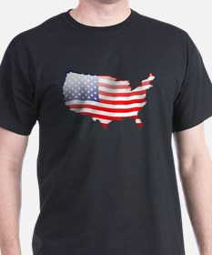 """United States Bubble Map"" T-Shirt"
