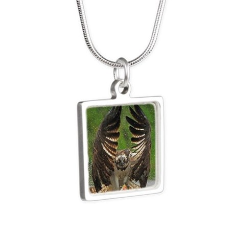 Owl Silver Square Necklace