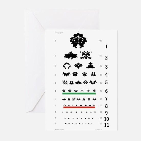 Inkblot Eye-Chart Greeting Cards