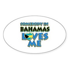 Somebody in Bahamas Loves me Decal