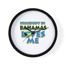Somebody in Bahamas Loves me Wall Clock