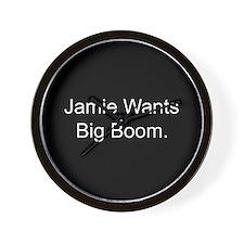 Jamie Wants Big Boom Wall Clock